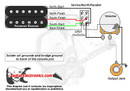 1 Humbucker/1 Volume/Series-North-Parallel