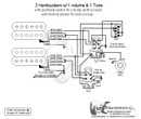 2 HBs/3-Way Lever/1 Vol/1 Tone/Coil Tap & Reverse Phase