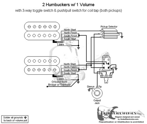 3 way guitar toggle switch wiring diagram 2 humbuckers 3 way toggle switch 1 volume coil tap north #4