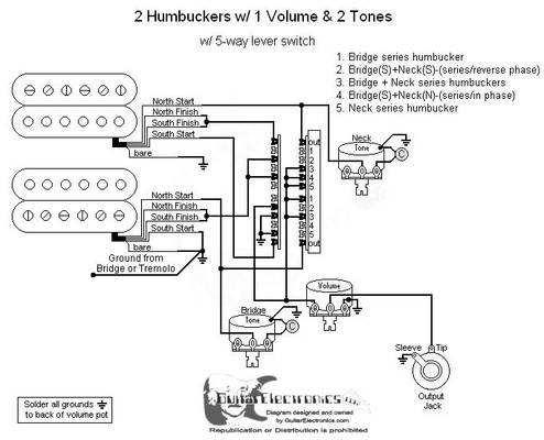 Two Humbucker 5 Way Switch Wiring Diagram Wiring Library Woofitco