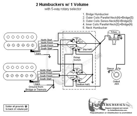 vintage guitar 5 way selector switch wiring diagram 2 humbuckers/5-way rotary switch/1 volume/06 2 humbuckers 1 vol 1 tone 5 way super switch wiring diagram