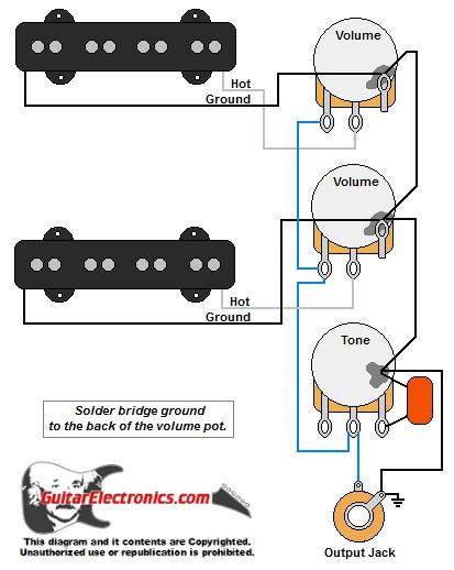 jazz bass style wiring diagram