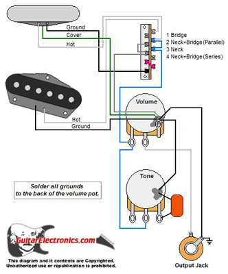 tele w 4 way mod switch rh guitarelectronics com telecaster 4 way wiring humbucker telecaster 4 way switch wiring diagram