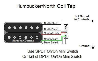 humbucker north coil tap rh guitarelectronics com
