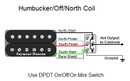 Humbucker/Off/North Coil Tap