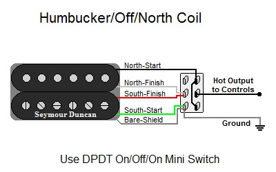 humbucker off north coil tap  humbucker off north coil tap