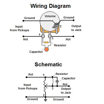 volume treble bleed bypass circuit w parallel resistor rh guitarelectronics com Series vs Parallel Battery Wiring Diagrams In Parallel Wiring Two ESCs