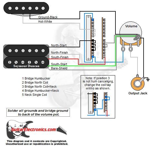 1 humbucker 1 single coil 5 way lever switch 1 volume 01. Black Bedroom Furniture Sets. Home Design Ideas