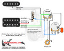 1 Humbucker/1 Single Coil/3-Way Lever/1 Volume/1 Tone/00