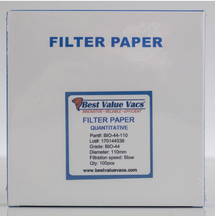 Ashless Filter Papers - 110MM - Quantitative