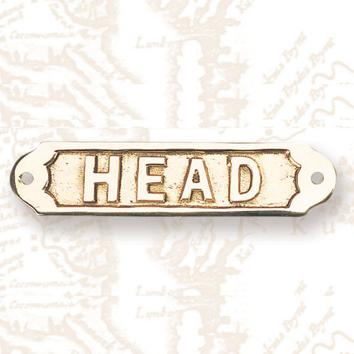 Brass Boat Head Bathroom Sign