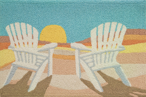 Beach Chair Rug Nautical Seasons