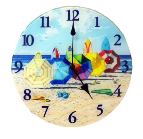 Beach Wall Clock Nautical Seasons