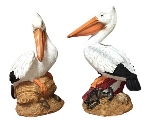 White Pelican Set of 2  Nautical Seasons