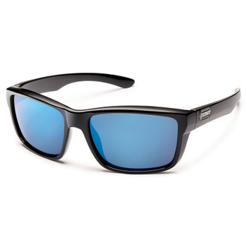 Suncloud Mayor Sunglasses - Black / Blue Mirror Polar
