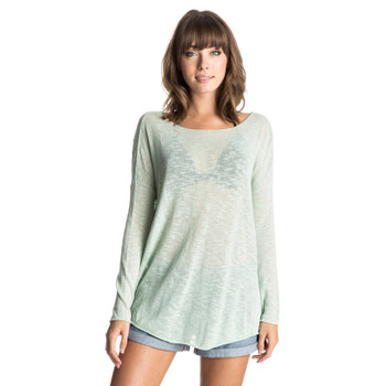 Roxy Wish You Were Here Sweater - Sage Gray