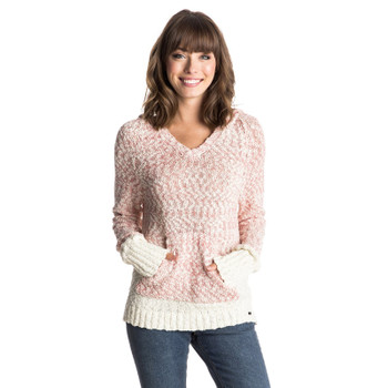 Roxy Time Will Tell Hooded Sweater - Faded Rose