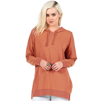 Volcom Lived In Long Pullover Hoodie - Burnt Sienna