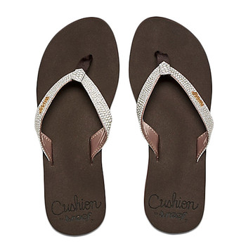 Reef Star Cushion Sassy Sandal - Brown / White