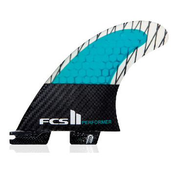 FCS II Performer PC Carbon Tri Fin Set - Large