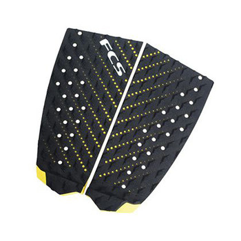 FCS T-2 Traction Pad - Black Yellow