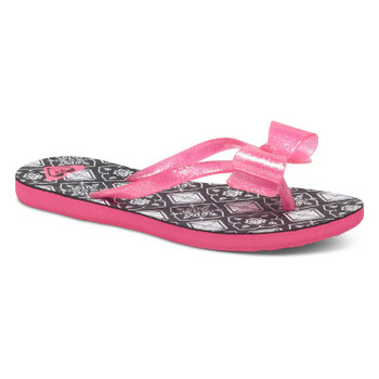 Roxy Girls Lulu Flip Flop - Black Graphic
