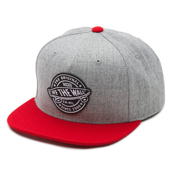 Vans Badge Snapback Hat - Heather Grey / Chili Pepper