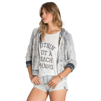 Billabong Drift Away Zip Up Hoodie - Bleach