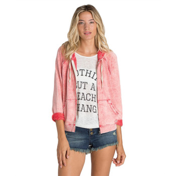 Billabong Drift Away Zip Up Hoodie - Rose Dust