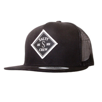 Salty Crew Tippet 5 Panel Hat - Black