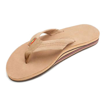 Rainbow Premier Leather Double Layer Sandal - Sierra Brown