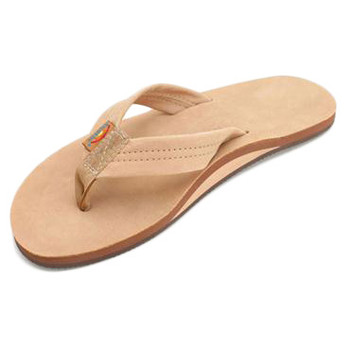 Rainbow Premier Leather Single Layer Sandal - Sierra Brown