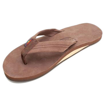 Rainbow Premier Leather Single Layer Sandal - Expresso