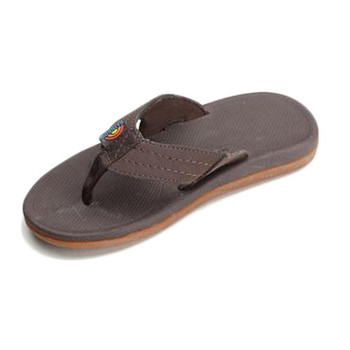 Rainbow Kids Caps Sandal - Dark Brown
