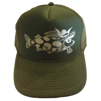 Ben and Jeff's Cow Fish Hat - Green