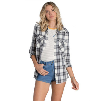 Billabong Flannel Frenzy Shirt - White Cap