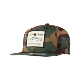 Salty Crew Seabass Patched Hat - Camo