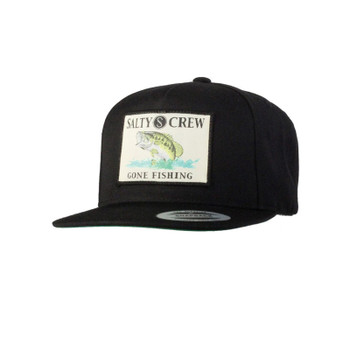 Salty Crew Big Mouth Patched Hat - Black