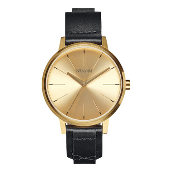 Nixon Kensington Leather Watch - Gold / Bridle