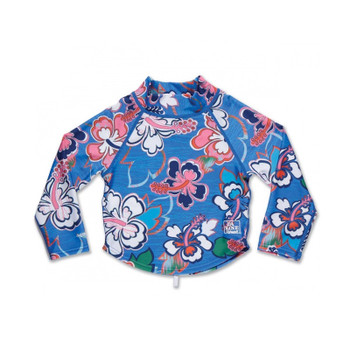 Dakine Girls Toddler Long Sleeve Rashguard - Ocean Flower