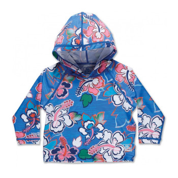 Dakine Girls Toddler Hoodie Rashguard - Ocean Flower