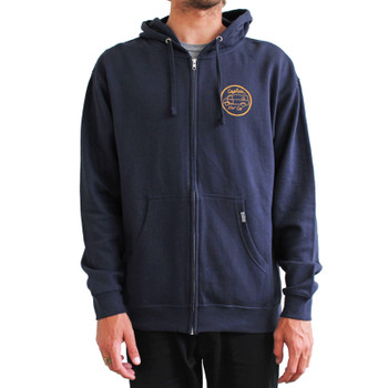 Captain Fin Suspect Zip Fleece - Navy