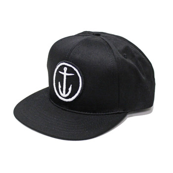 Captain Fin OG Anchor 6 Panel Hat - Black / White