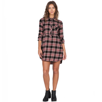Volcom Cozy Day Dress - Black Combo