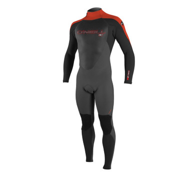 O'Neill Youth Epic 4/3 Wetsuit - Graphite/Black/Neon Red