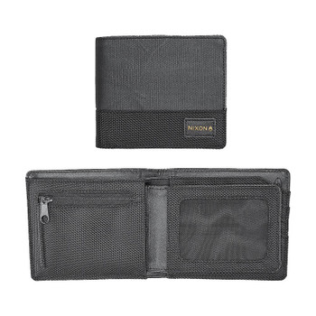 Nixon Origami Satellite Bi-Fold Id Coin Wallet - Black