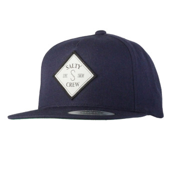 Salty Crew Tippet Patched 5 Panel Hat - Navy