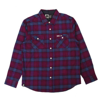 Salty Crew Windward Flannel - Burgandy / Navy