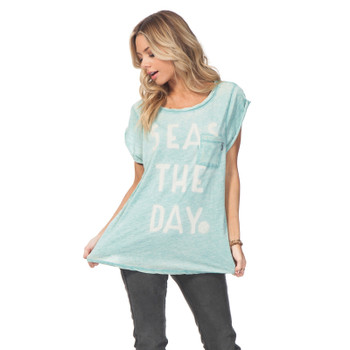 Rip Curl Seas The Day Pocket Tee - Turquoise