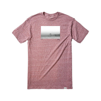 Nixon Dorsal Tee - Burgundy Heather